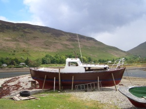 Lochranza - the north of the island.