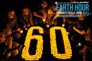 Edinburgh celebrates Earth Hour.