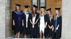 girls graduating